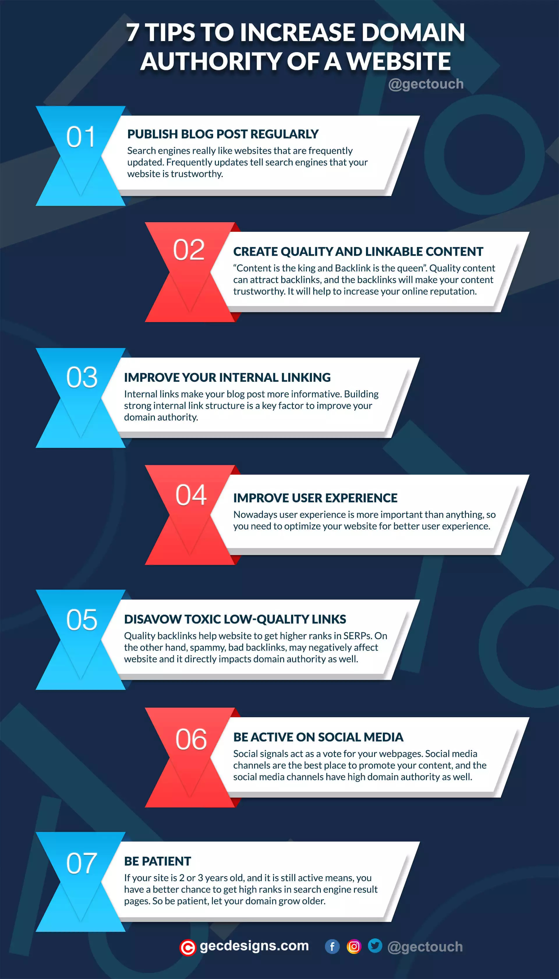 Increase Domain Authority Infographic